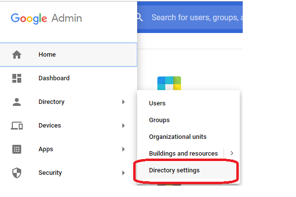Updates to the Directory settings section of the Admin console 1