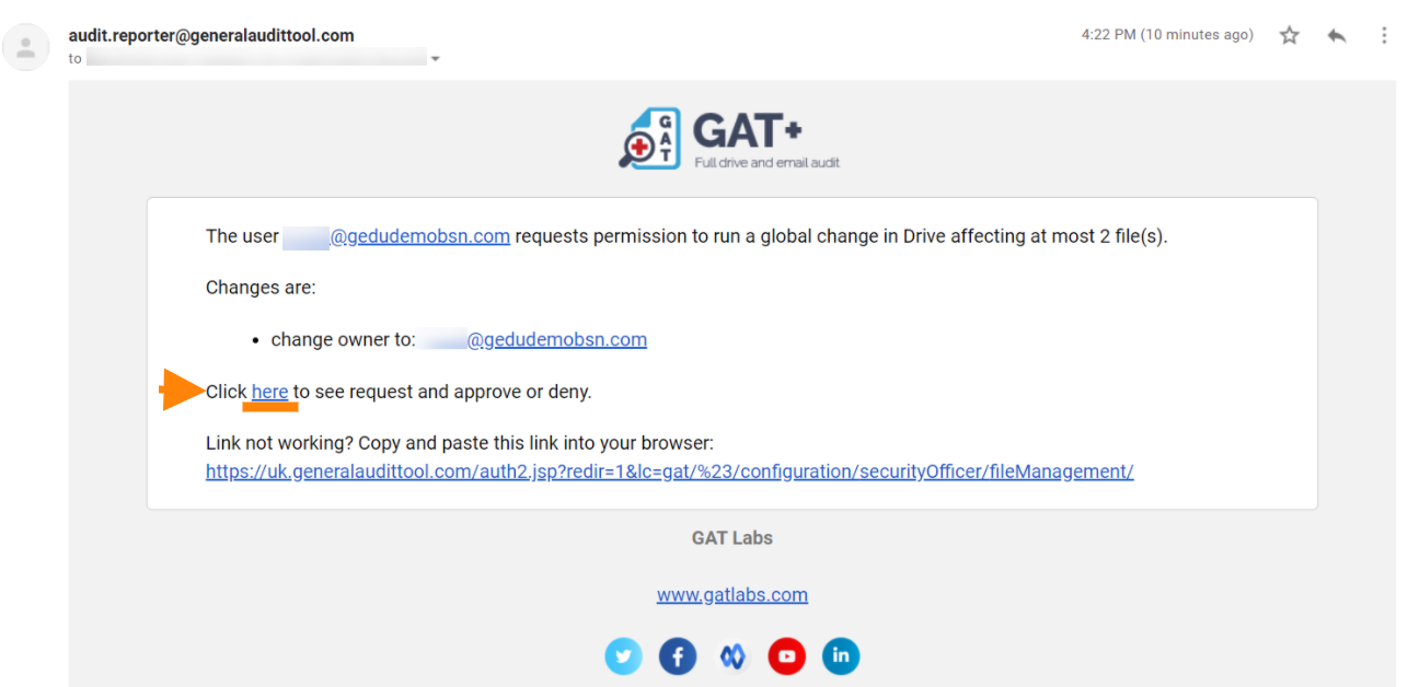 GAT Unlock | How to Transfer Ownership of Google Drive Files 7