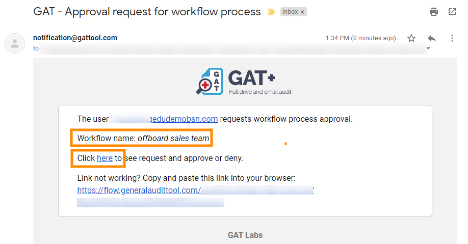 GAT Flow: Create an Action set for Offboarding G Suite Users 13