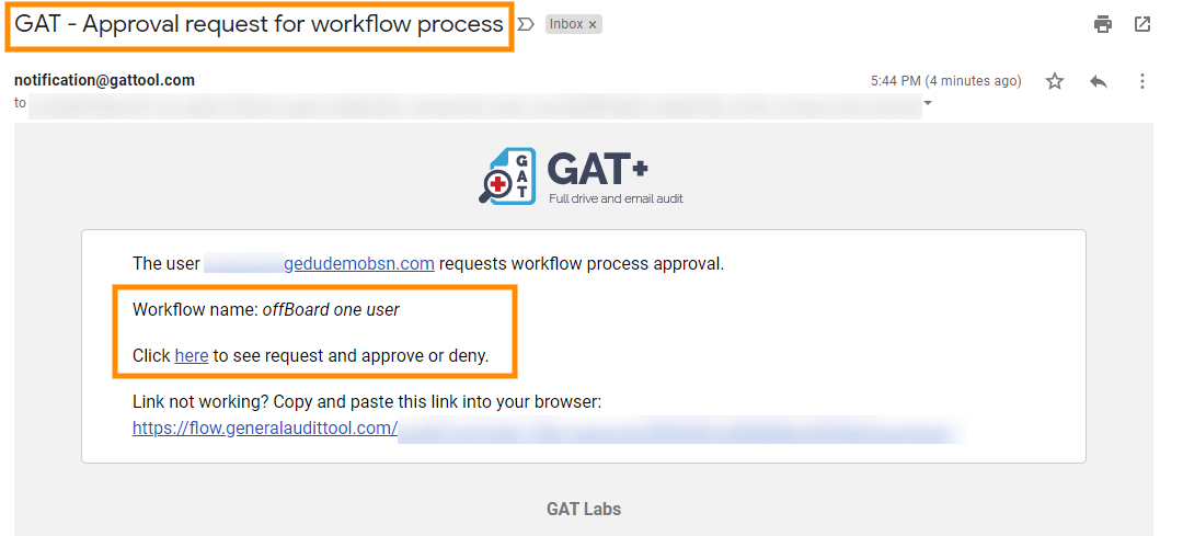 GAT Flow: How to Offboard a Google Workspace User 8