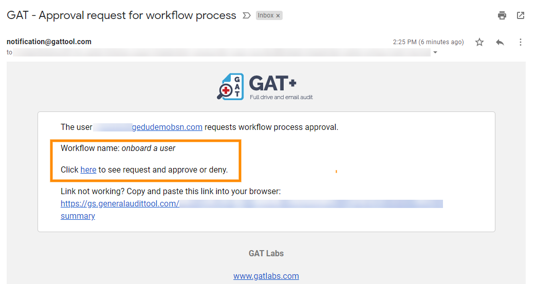 GAT Flow: How to Onboard a User 10