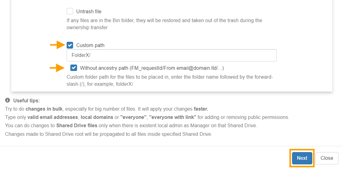 GAT Unlock | How to Change Ownership of an Entire Folder Tree on Google Drive 7