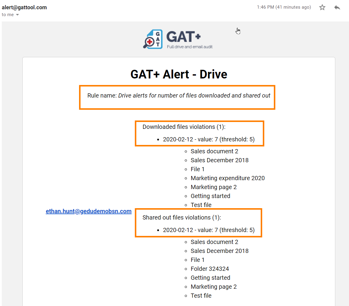 GAT+ | How to set up Google Drive alerts for G Suite users 4