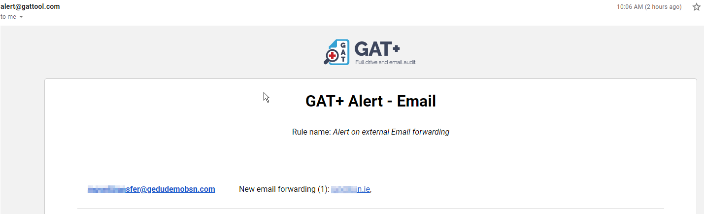 GAT+: How to Set an Alert when External Forwarding is Enabled in Gmail 5