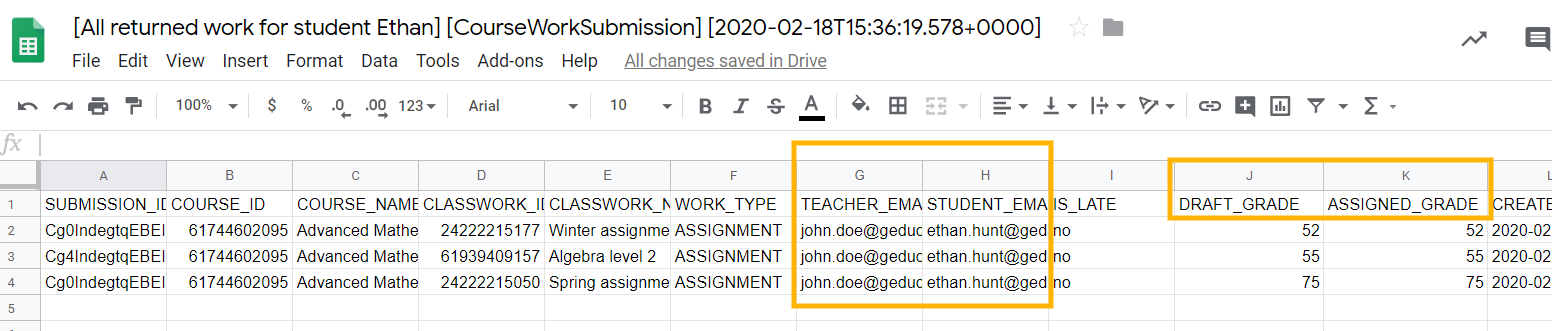 GAT+ | How to See Students' Returned Assignments in Google Classrooms? 7