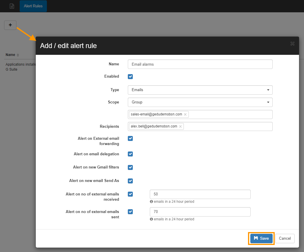 GAT+: How to set up Gmail alerts for G Suite users 2