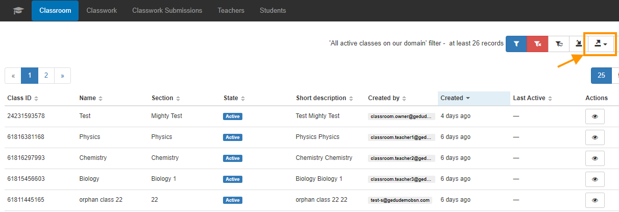 Find All Active Classes in your Google Classroom 4