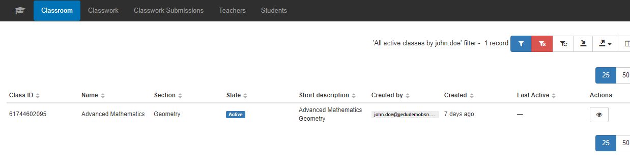 Find All Active Classes in your Google Classroom 6