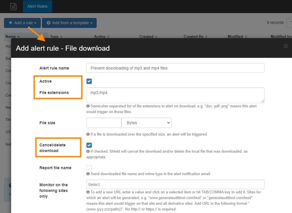 GAT Shield | Prevent MP3 files and other file types from being downloaded 2