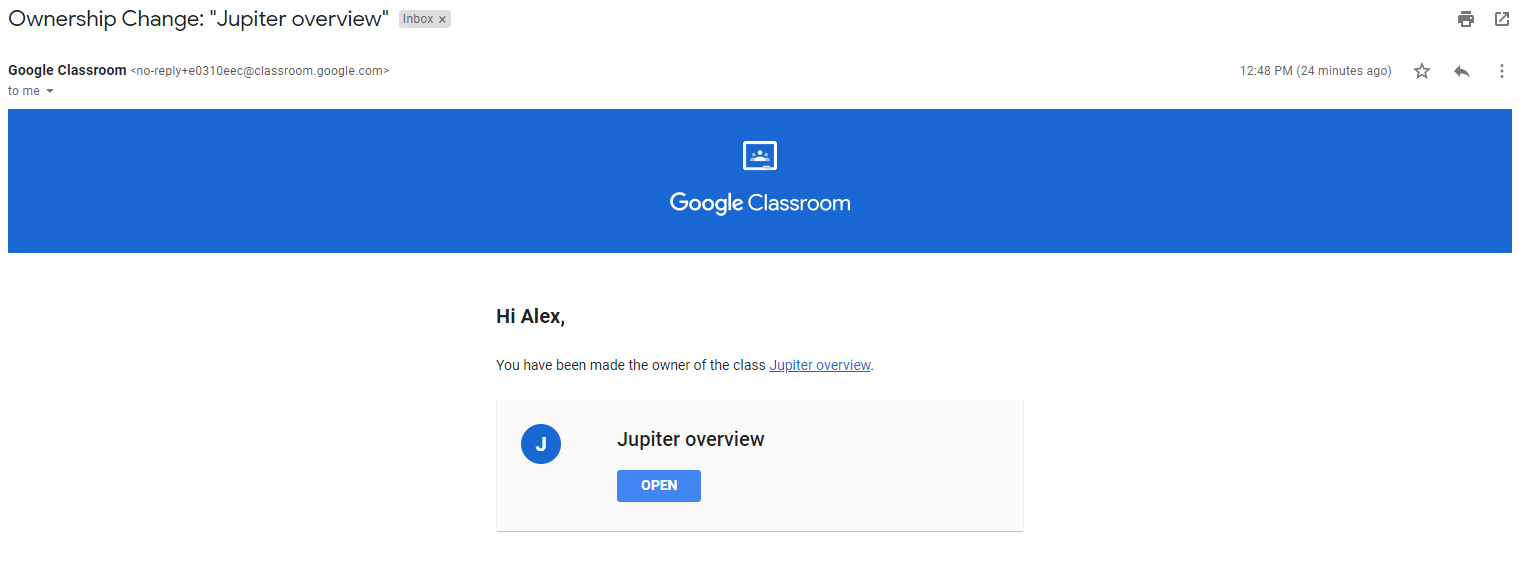 GAT+ | How to Change Ownership of a Google Classroom 9