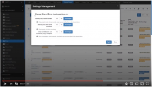 video Management of Shared Drives