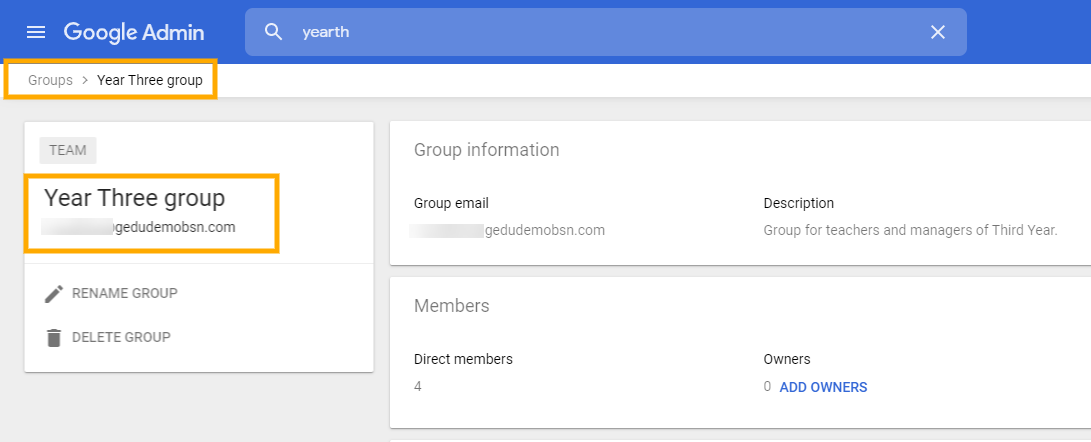 Change Google Groups Settings in GAT+ 6