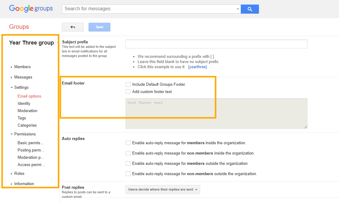 GAT+ | Change Google Groups Settings 7