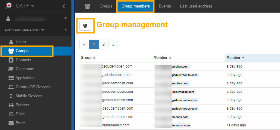 Manage Google Group Members using GAT+ 1