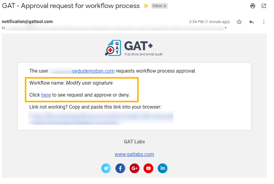 GAT Flow | Modify Email Signature to G Suite Users in Bulk 15