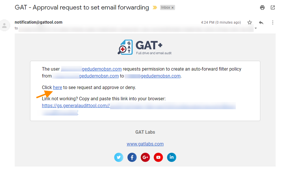 GAT+ | How to set up auto-forwarding for your Gmail users for G Suite 5