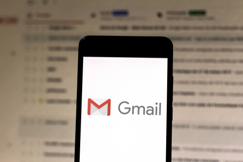 Gmail logo on your mobile device. Gmail is a free webmail service created by Google in 2004.