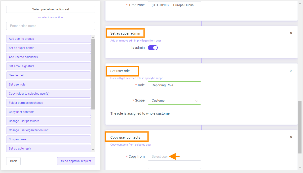 GAT Flow | Actions available when OnBoarding users 6