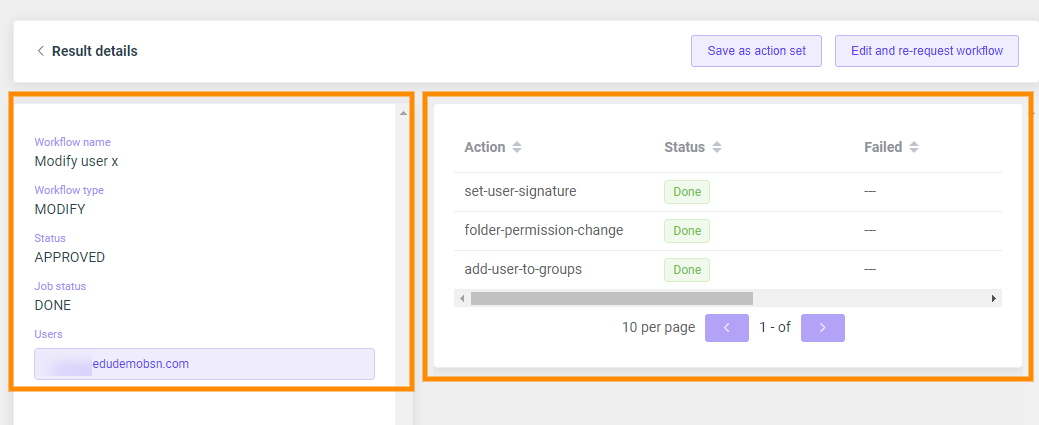 GAT Flow | Actions Available when Modifying Users 8