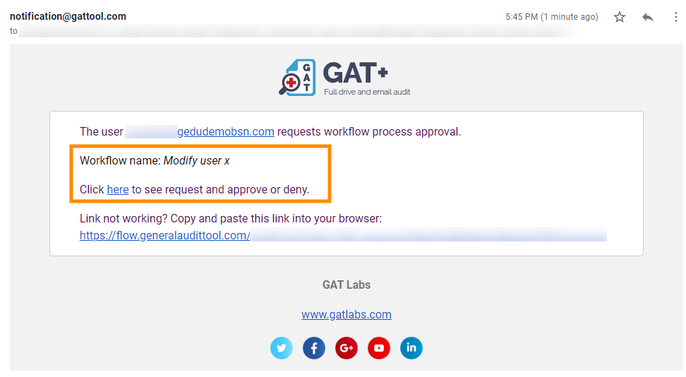GAT Flow | Actions Available when Modifying Users 5