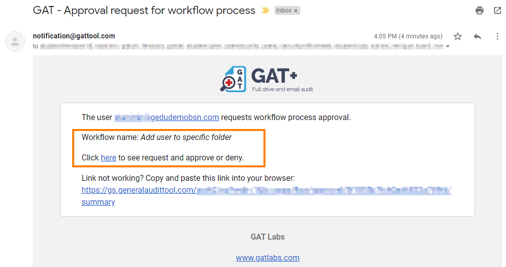GAT Flow | Copy folder to selected users in bulk 9