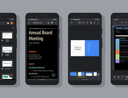 Dark theme now available for Google Docs, Sheets, and Slides on Android
