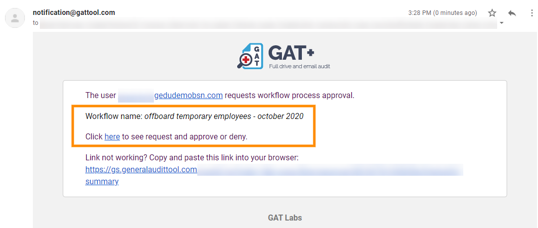 GAT Flow | Scheduled Automatic Removal of G Suite Users 8