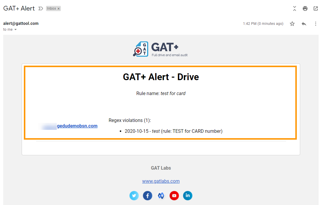 GAT+: How to set up Google Drive DLP Alerts for shared out files 9