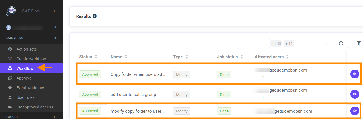 GAT Flow | Event Workflow - Copy Folder When Adding a User to a Group or an Org. Unit 11