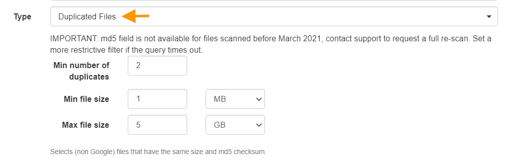 GAT+   Apply a Search Filter in Google Drive Audit 12