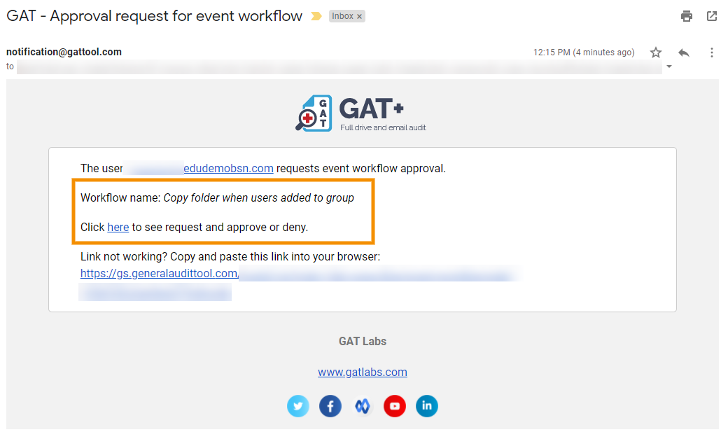 GAT Flow | Event Workflow - Copy Folder When Adding a User to a Group or an Org. Unit 7