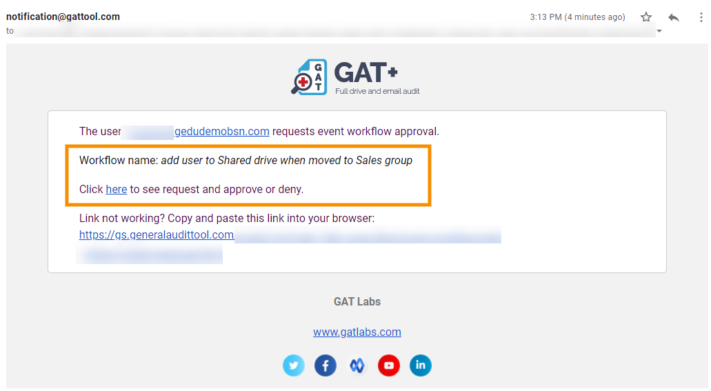 GAT Flow | Event Workflow - Add User to Any Given Folder or Shared Drive when Moved to Group or Org. Unit 4