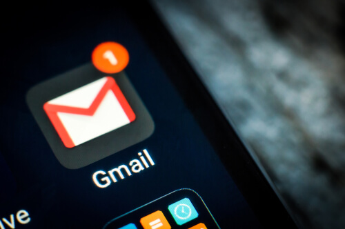 Gmail application icon on a smartphone screen