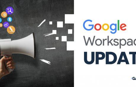 Google Workspace Update Education