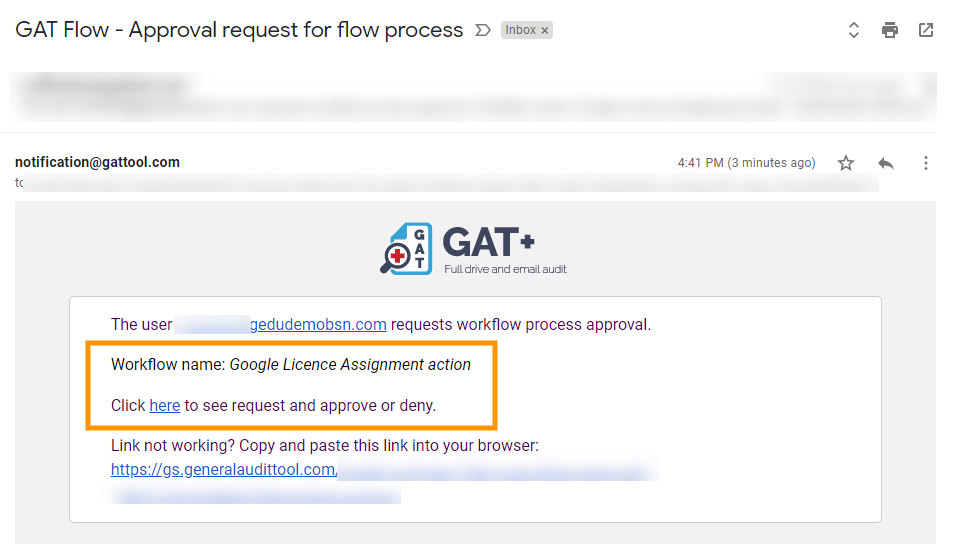 GAT Flow | Google Licence Assignment Action 8