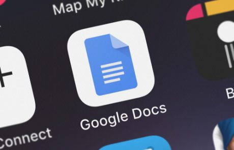 The Google Docs: Sync, Edit, Share mobile app from Google, Inc. on an iPhone screen.