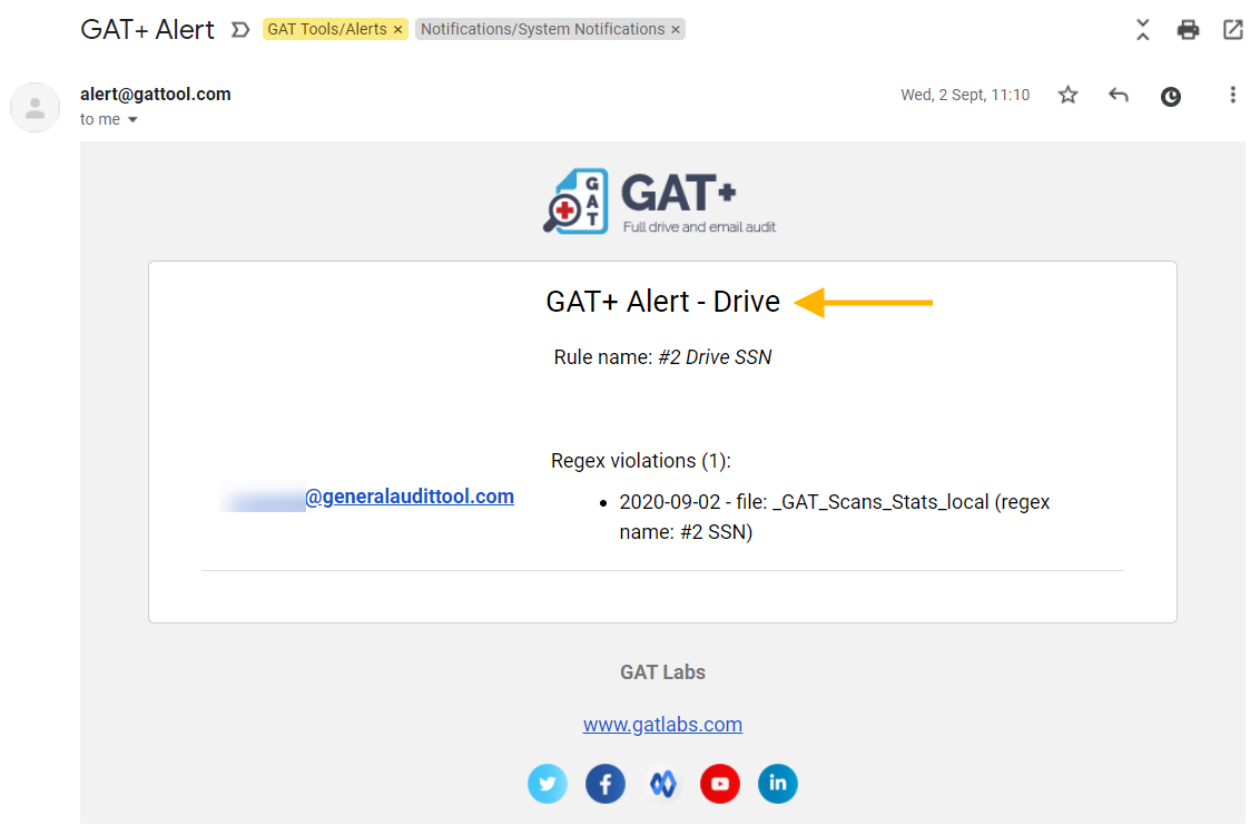 GAT+ | View List of Google Drive File Downloads and Drive sharing from Alert Violation 1