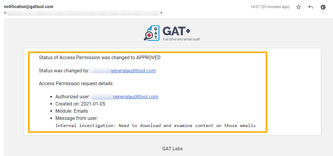 GAT+ Unlock | View or Download Email Contents 7