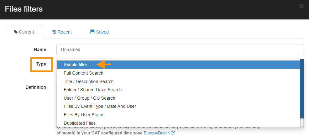 GAT+   Apply a Search Filter in Google Drive Audit 4