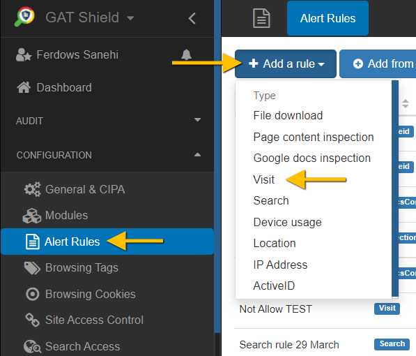 GAT Shield   Blocking Top Level Domains (TLD) with GAT Shield extension 2