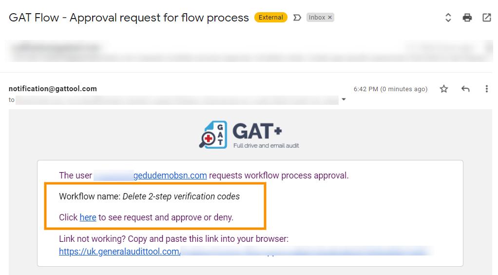 GAT Flow   Delete 2-step verification backup codes 5