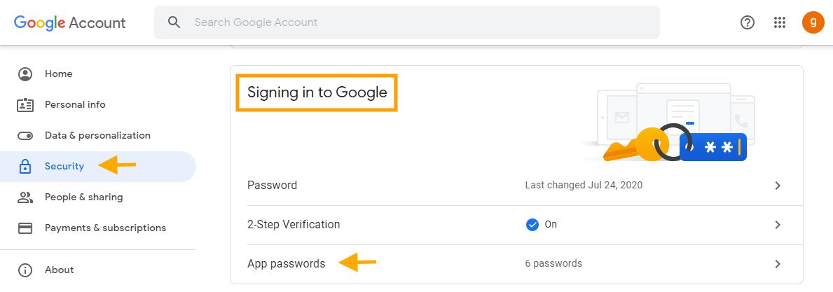 GAT Flow   Delete app-specific passwords 8