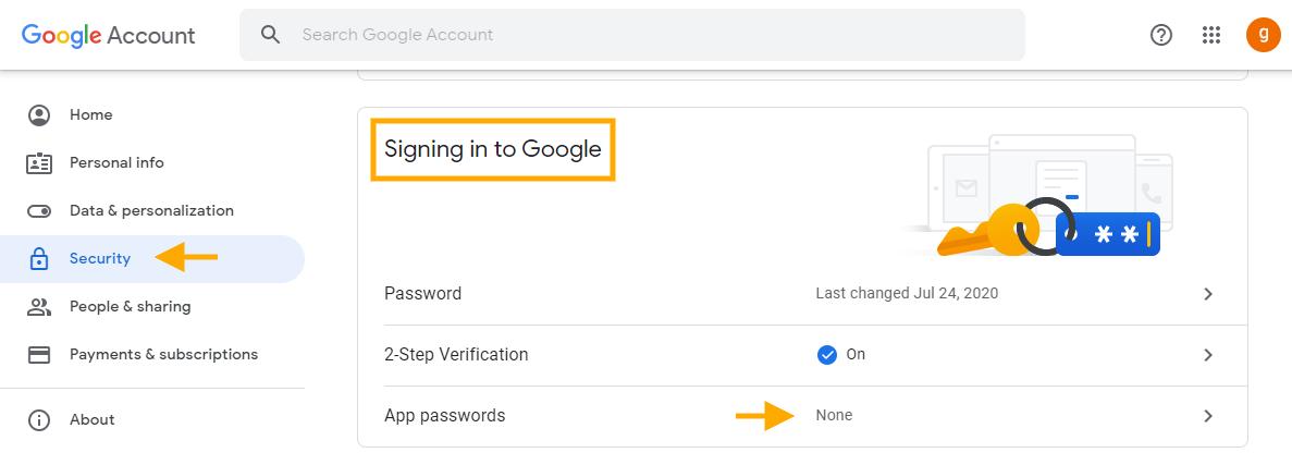 GAT Flow   Delete app-specific passwords 9