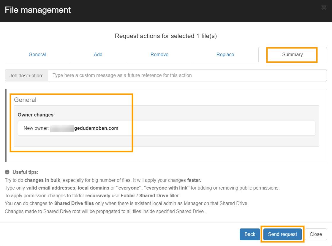 GAT+   File Management - Change File Ownership 3
