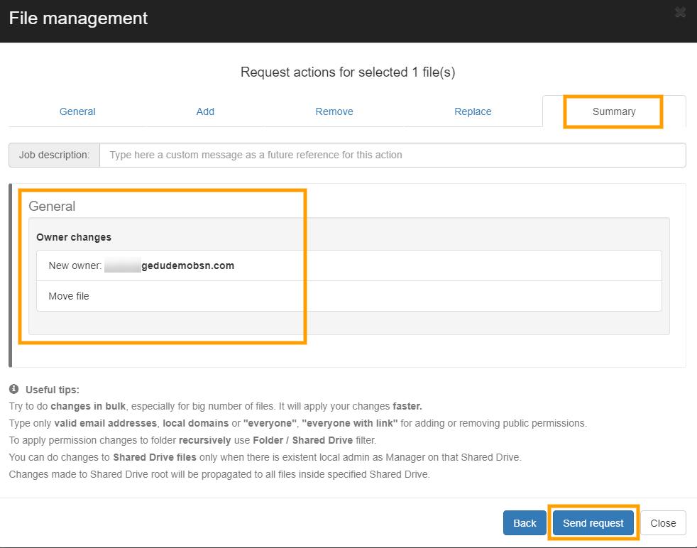 GAT+   File Management - Change File Ownership 7