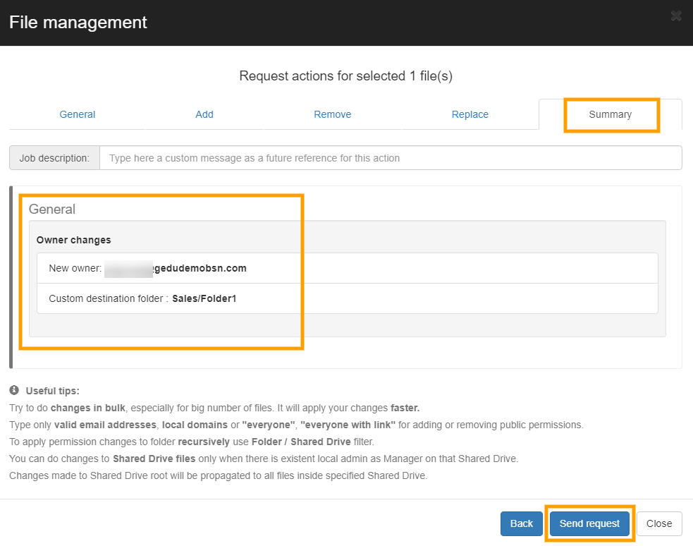 GAT+   File Management - Change File Ownership 12