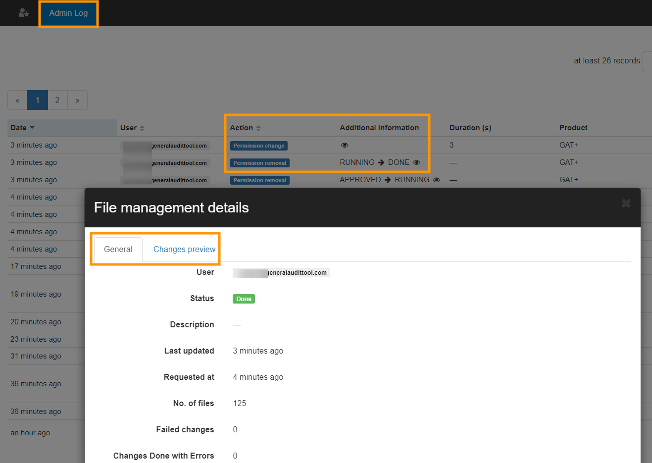 GAT+ | Schedule report on Shared out files and remove the shares automatically 7