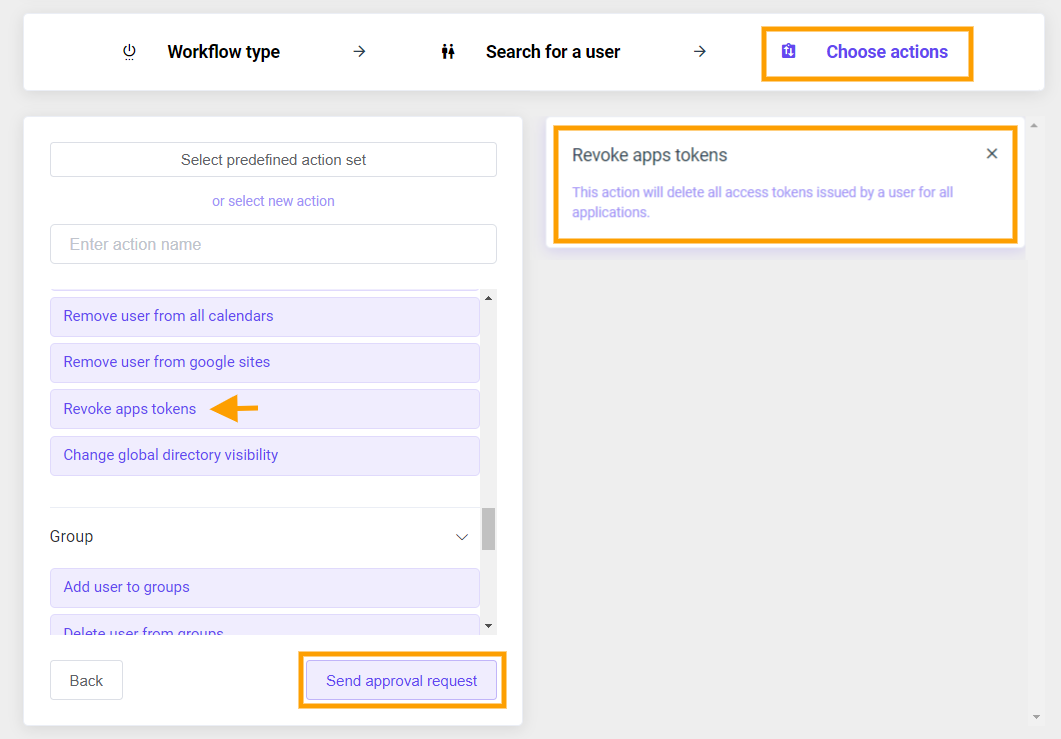 GAT Flow   Revoke all apps for Google workspace User 3