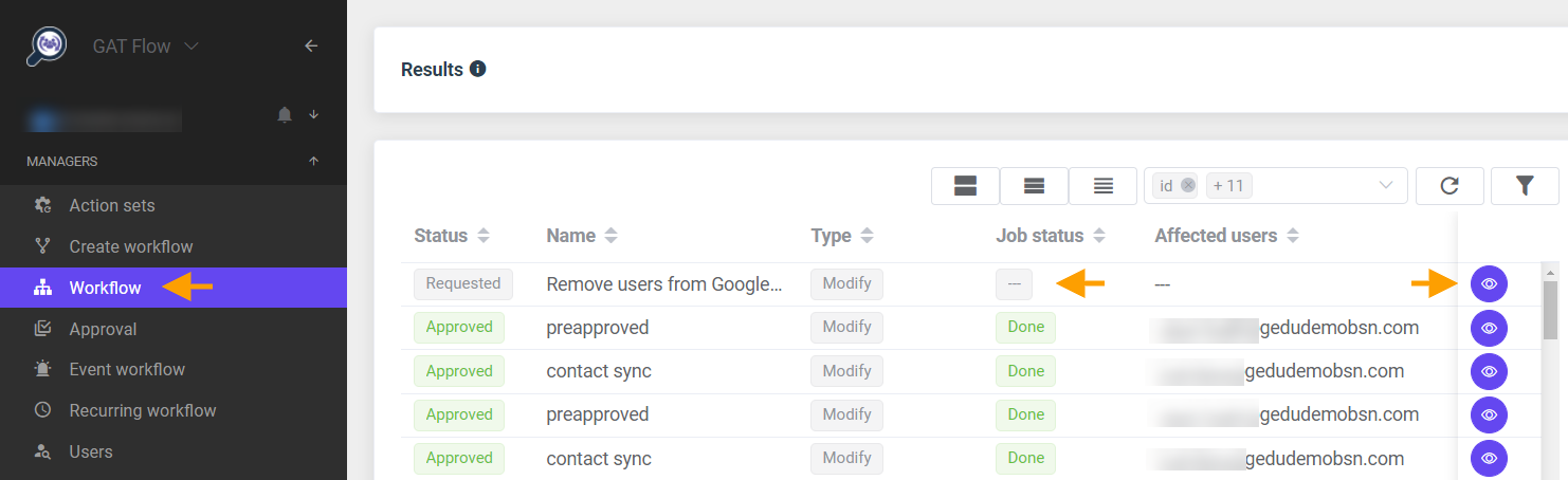 GAT Flow | Remove users from Google sites 7