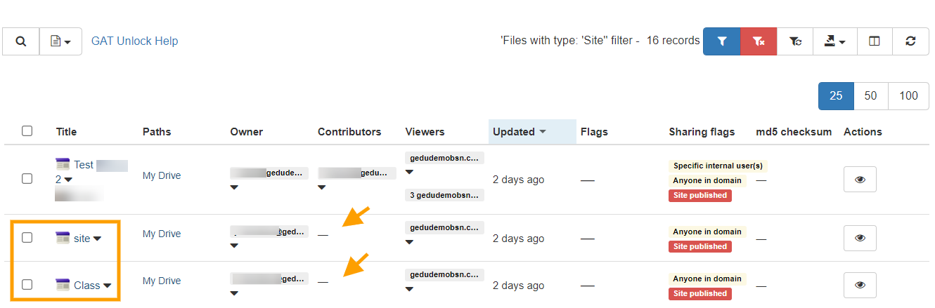 GAT Flow | Remove users from Google sites 6